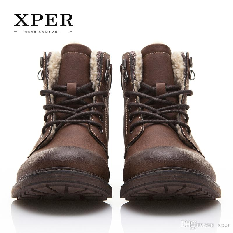Relatively Xper Brand Men Shoes Winter Men Boots Fashion Vintage Style Male  KG86