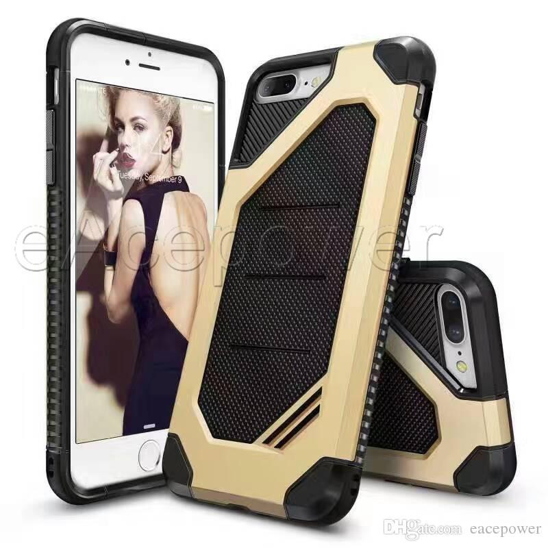 De luxe 2 en 1 Armure Protection Antichute Cas Antichoc Dur TPU PC Couverture Couverture de Téléphone portable Pour Xiaomi Rouge Mi 4 4A 3S 3X Prime Note 3 4 4X 6