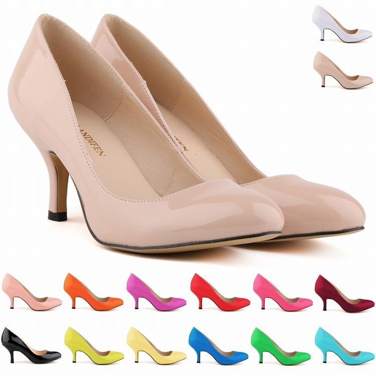1902cab3aa3968 Europe Style Fashion LADIES MID HEELS POINTED CORSET STYLE Work Pumps COURT  Shoes US SIZE 4 5 6 7 8 9 10 11 D0012 Women Shoes Pumps Women Shoes Online  with ...