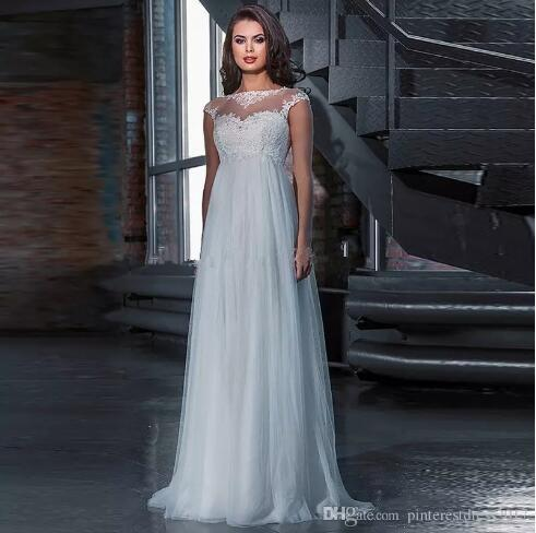 Discount 2017 High Waist Beach Maternity Wedding Dress For Pregnant ...