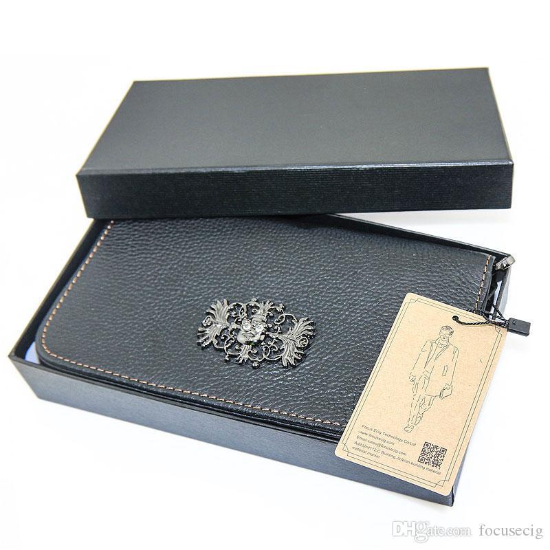 e borsa il trasporto di sigarette vaping borsa da viaggio con borsa vaping portatile realizzata in pura pelle