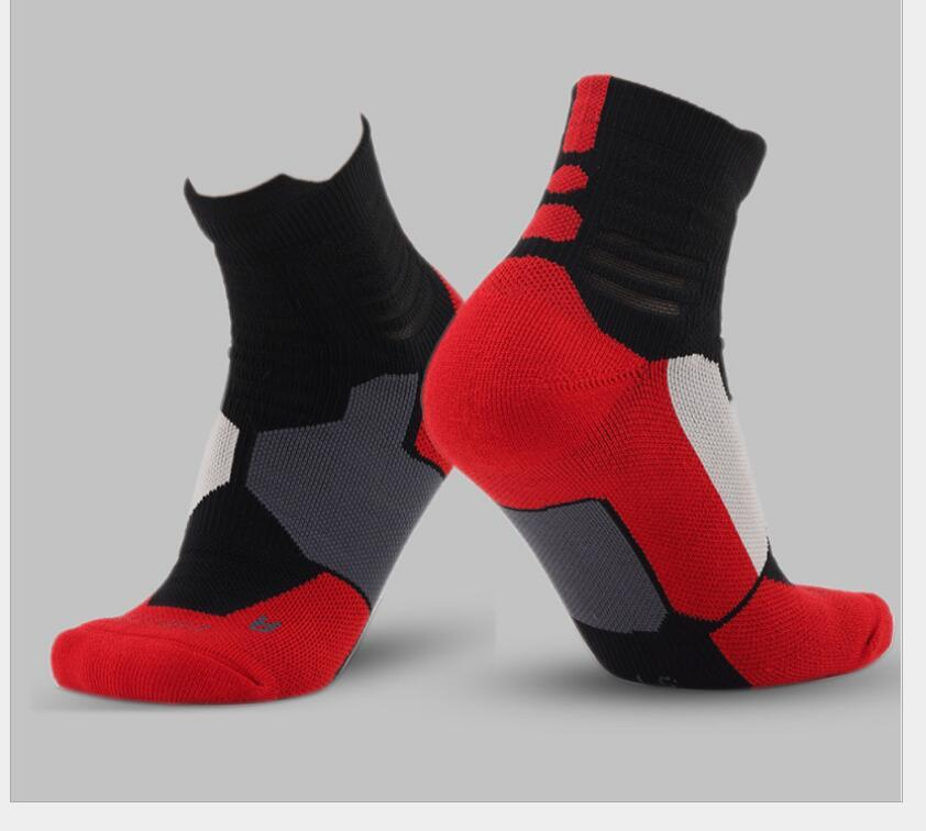 2017 New Elite Professional Socks Men short crew towel bottom Socks Male Compression Sox Men's crew Basketball Socck short tube Socks