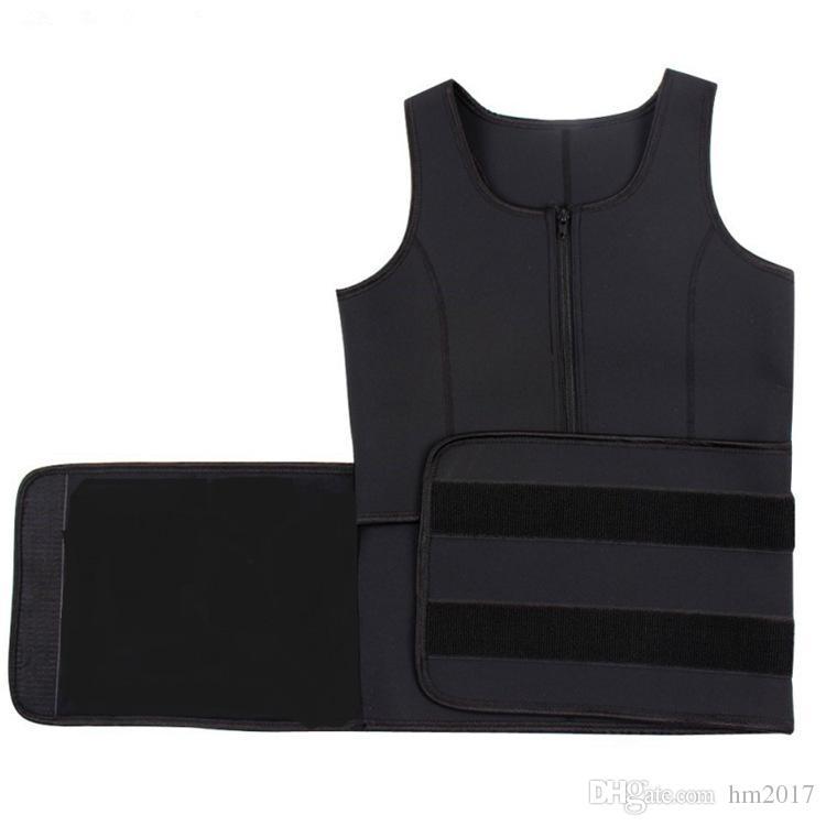 Caliente Neopreno Cintura Ajustable Cinturón Sudor Sauna Adelgazar Cinturón Faja Corporal Cintura Entrenador Chaleco Entrenamiento Fajas