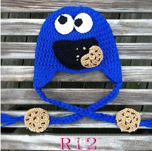 Sesame Street Cookie Monster Elmo Crochet Pattern Hat Baby Boys