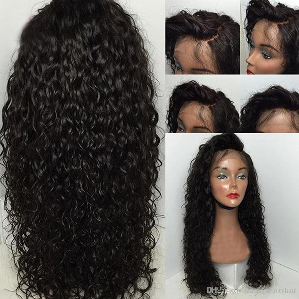 Water Wave 360 Lace Frontal Wigs For Black Women Pre Plucked Honey Queen  Brazilian Human Remy Hair Bleached Knots 10 24 Inch Cheap Full Lace Wigs  100 ... 388acf7ebc