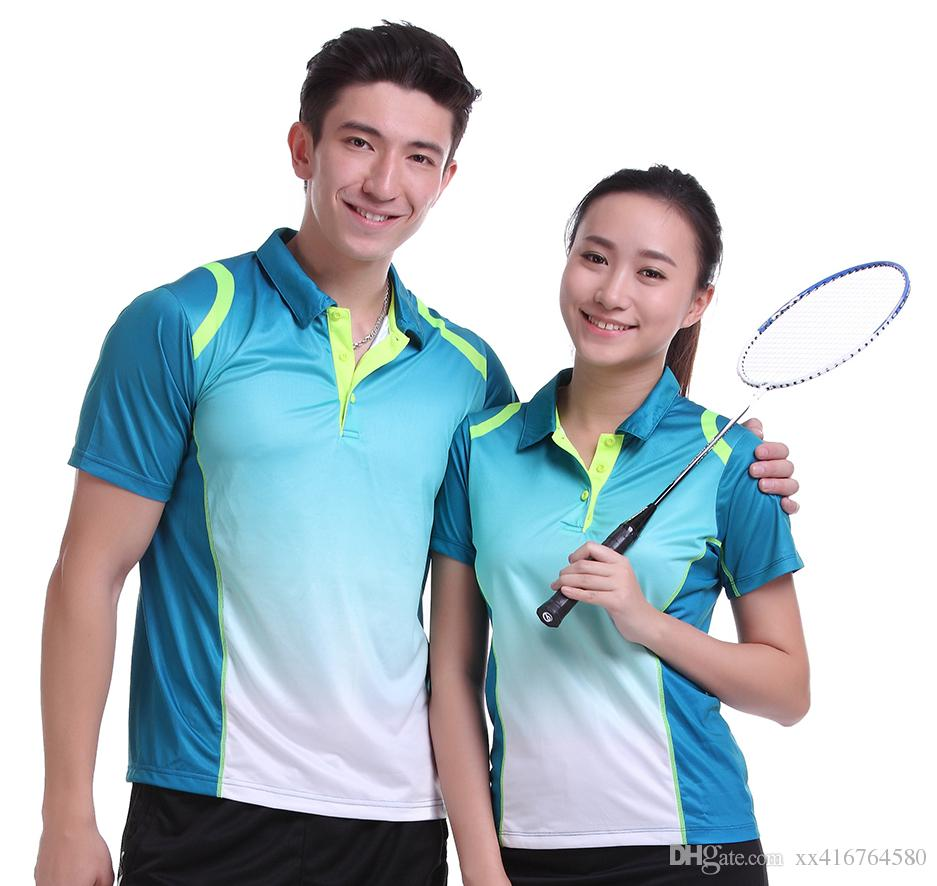 7ea5e9c5319 2019 Sportswear Sweat Quick Dry Breathable Badminton Shirt