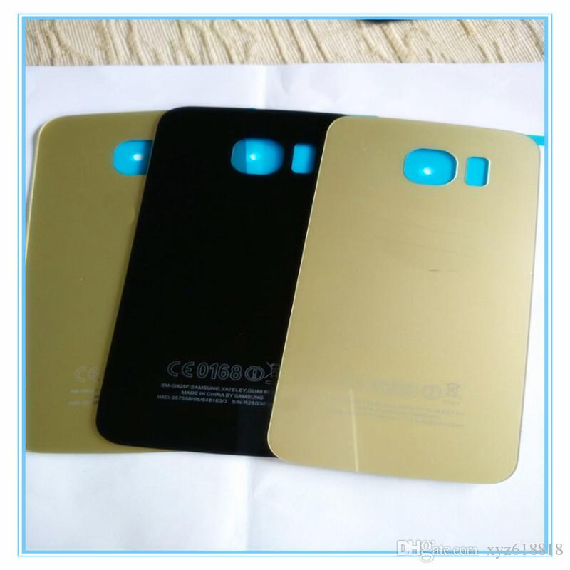 With IMEI Number Rear Back Cover S6 G920F Battery Back Glass Door Housing For Samsung S6 Edge Plus G928F S6 Edge G925F