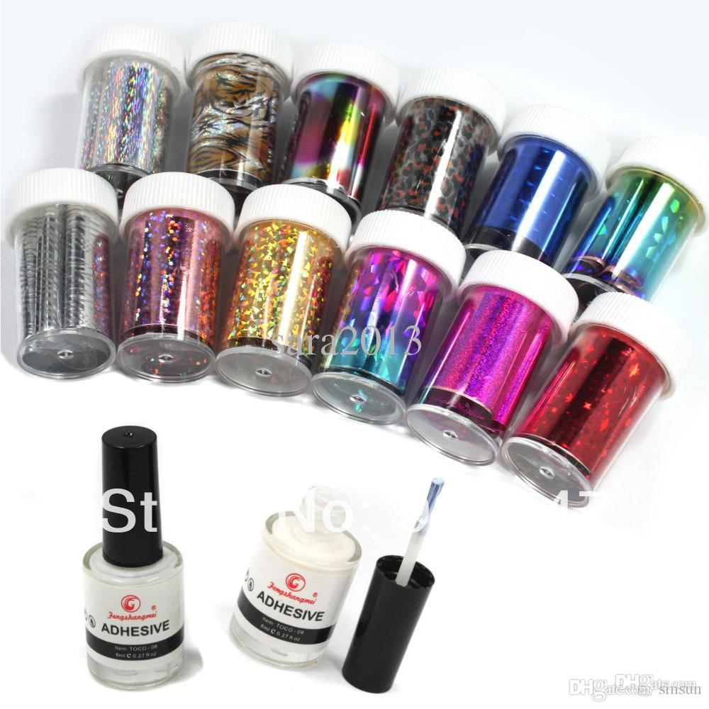 Wholesale Nail Art Transfer Foil Sticker For Nail Tips Decoration ...