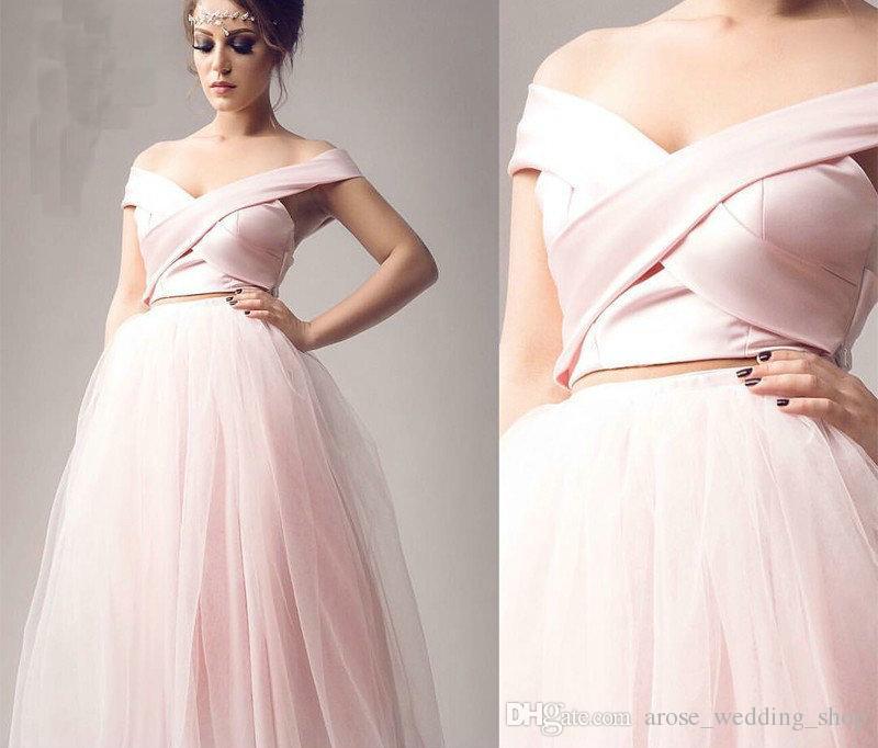 Vestidos largos de noche color rosa