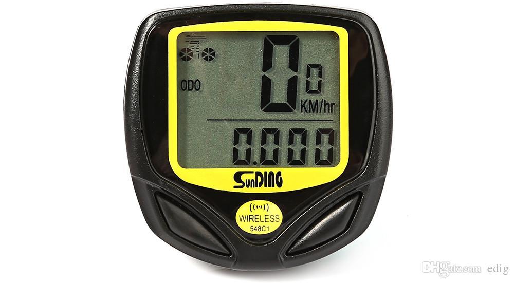 SUNDING SD-548C1 Drahtloser Fahrradcomputer Wasserdichter Fahrrad Kilometerzähler Mit LCD Display Fahrrad Tacho Neue Ankunft