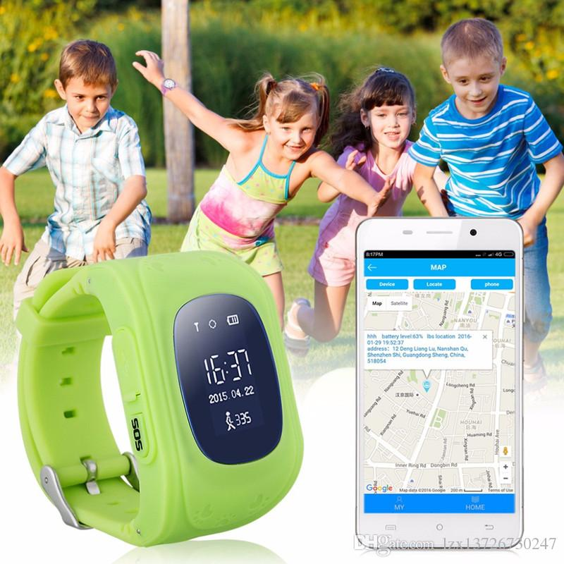 Q50 Детские LBS Tracker Smart Watch Телефон SIM Quad Band GSM Safe SOS Вызов PK Q80 Q90 SmartWatch для Android IOS