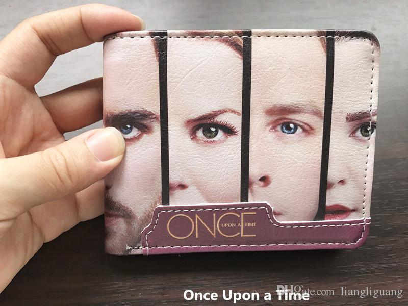 Popular Movie Purse Once Upon A Time Wallet With Coin Pocket Card Holder High Quality Young Men and Women Students Anime Fashion Short Walle