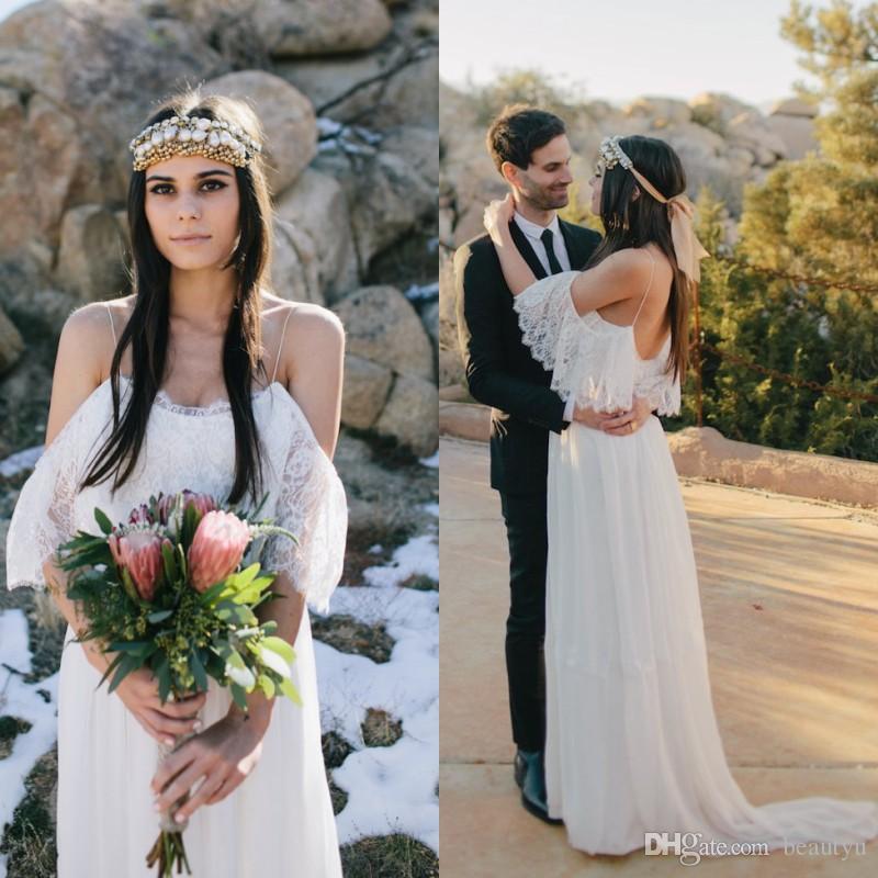 Discount Bohemian 2018 Beach Wedding Dresses Cheap Customized Plus ...