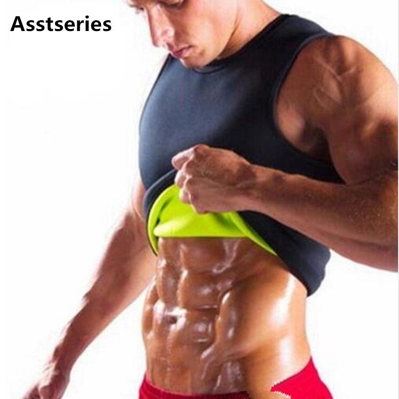d4219e050faff 2019 Wholesale Slimming Male Vest Neoprene Body Shaper Men T Shirt Sweat  Suits Waist Belt Waist Trainer Tights Corsets Hot Shapers Shapewear From  Ario