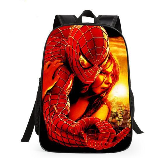 cartoon new Spiderman Patterns backpacks s for boys Back to School kids Backpacks Superman School Bags