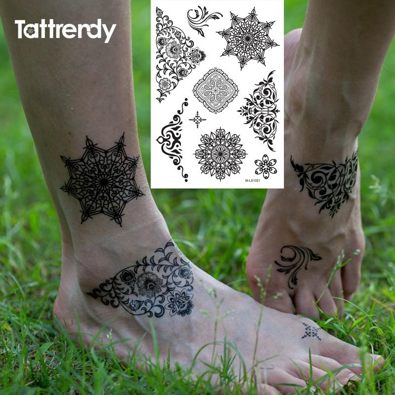 Wholesale New Indian Arabic Black Henna Tattoo Paste Lace Designs