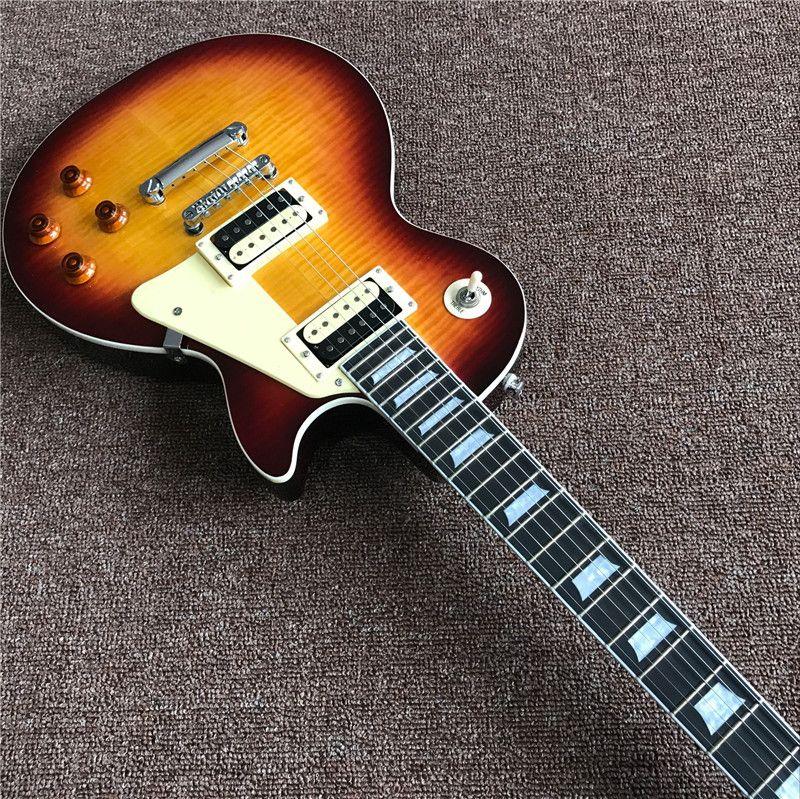 Продаю! Высокие стандарты качества электрической гитары,цвет Sunburst , махагон OEM изготовленная на заказ магазин электрогитара,можно много настройки,