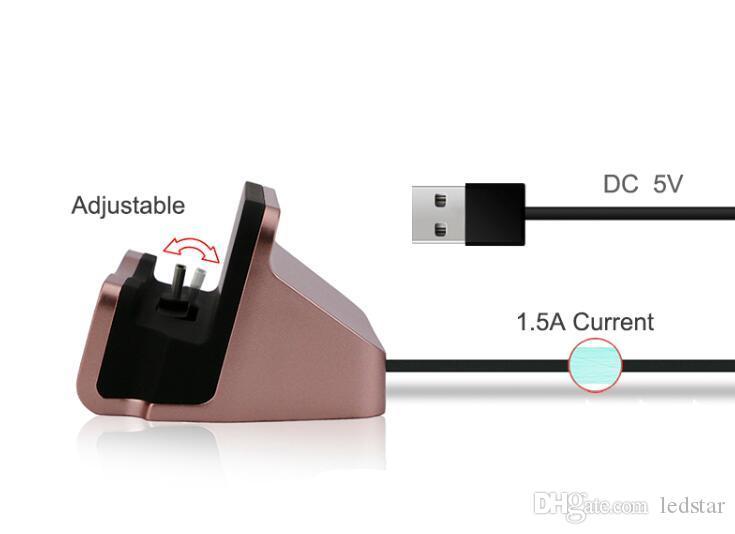 Schnellladegerät Dockingstation Station Cradle Charging Sync Dock Ständer Halter für 6 7 Plus Samsung S7 S8 TYP C Andriod