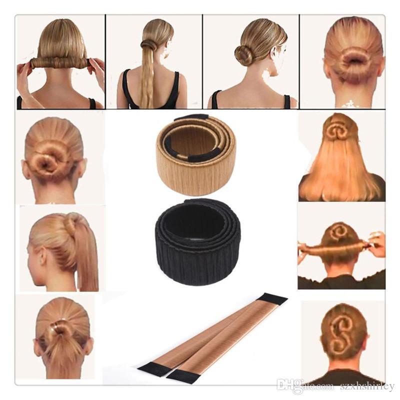Wholesale Magic Hair Bows French Twist Hair Styling Tools Bun Maker Hair Bow Ties Girl Magic DIY Styling Tools Free DHL
