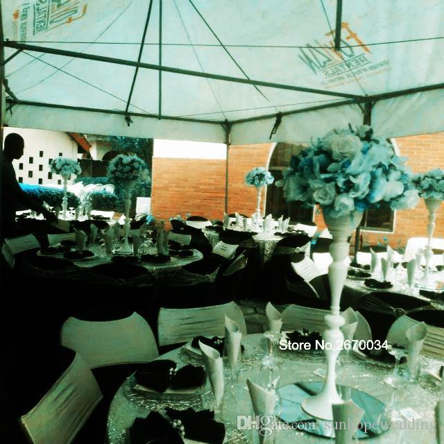 Pièce maîtresse de candélabres mentaux en gros de nouveau style avec le bol de fleurs pour le mariage et la décoration de fête