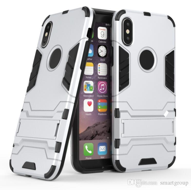 Para Apple Iphone X caso Rugged Combo Híbrido Armor Bracket Impacto funda funda protectora para Apple Iphone X