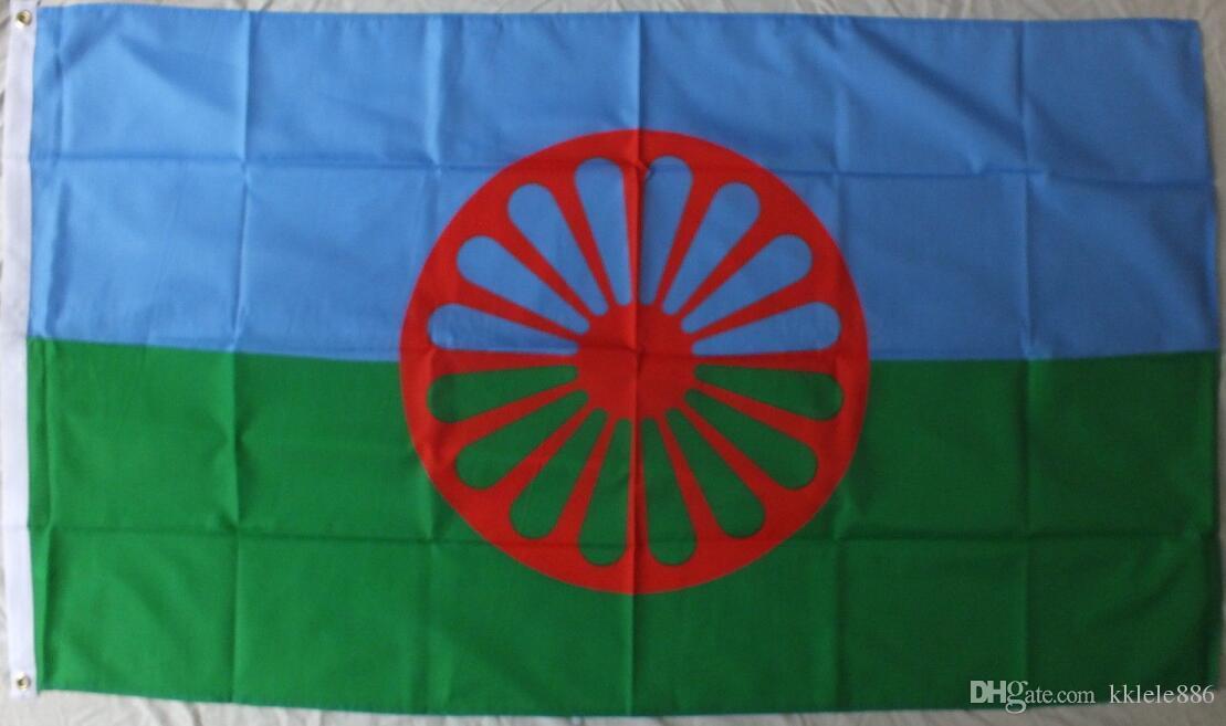 GYPSY BAYRAK 90 x 150 cm Polyester Çingene Sinti Roma Romany Romani  İnsanlar Yolcuları Banner