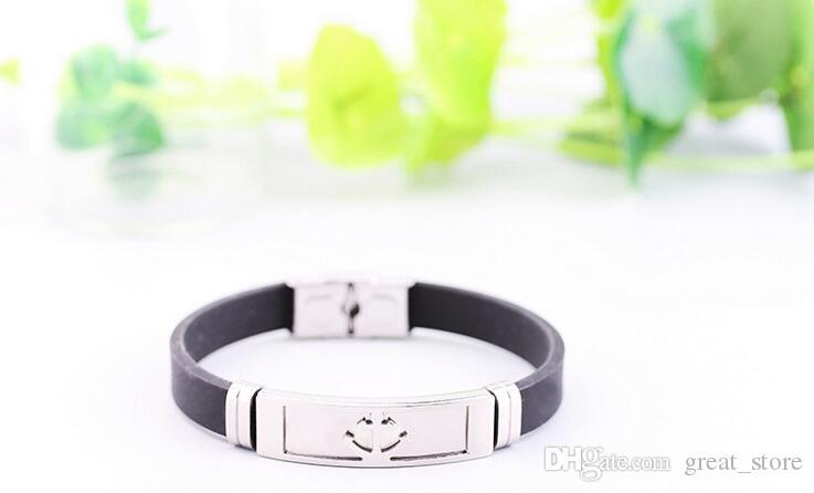 Hot sale Simple fashion cartoon hot silicone stainless steel scorpion bracelet FB377 a Slap & Snap Bracelets