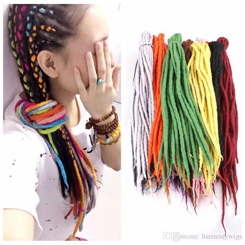 Synthetic Crochet Braids Twist Hair Nepal Felted Wool Dreadlocks