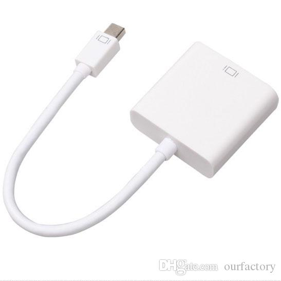 Мини displayport DP мужчин и VGA кабель-адаптер для Apple Macbook Air Pro 30ps / лот