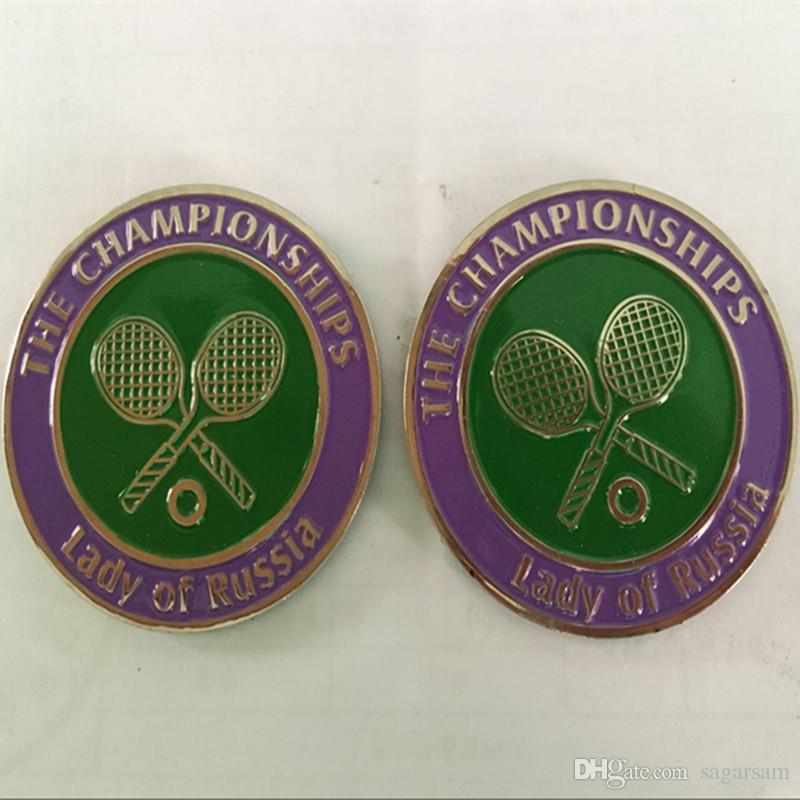 The famous Russia Tennis woman player Sharapova sport silver plated colored souvenir 40 mm coin