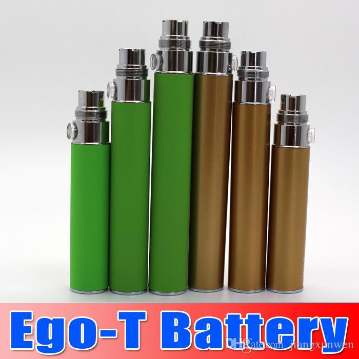 EGo t pil 650 mah 900 mah 1100 mah e sigara piller 53 konu CE3 CE4 atomizer Evod için MT3 protank H2 e çiğ 10 adet