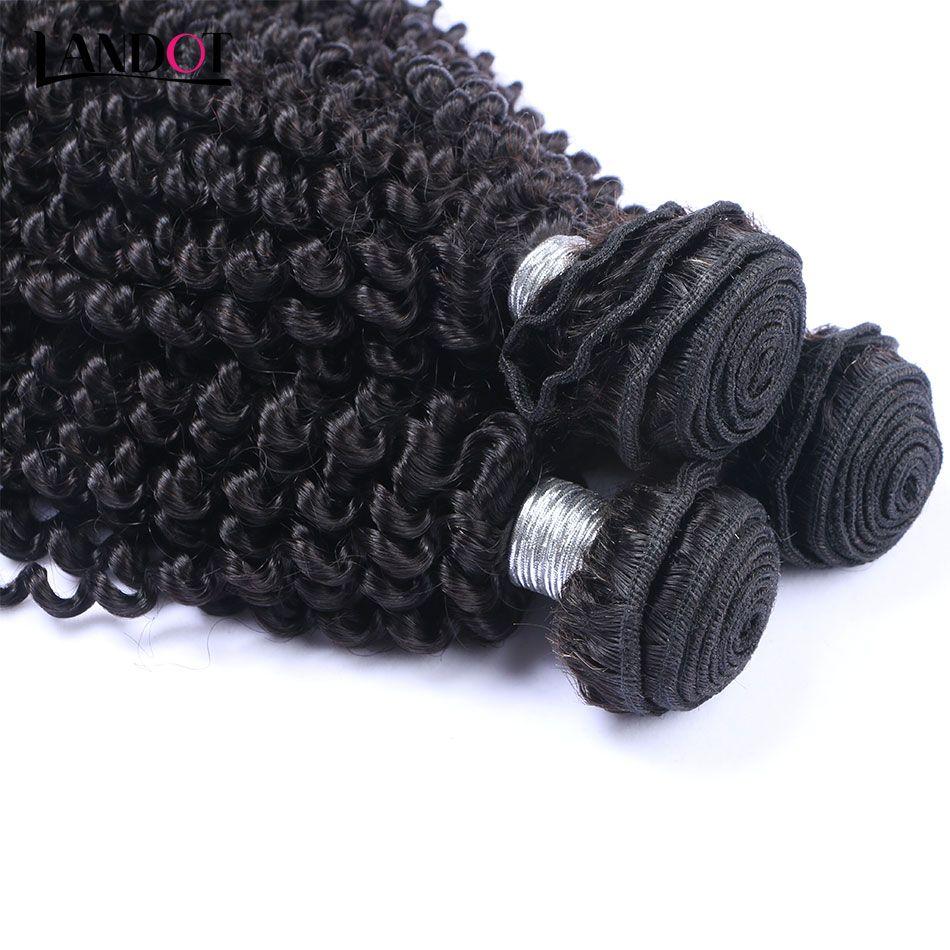 Pelo virginal rizado rizado mongol 3 piezas Armadura no fruncida mongol rizada del pelo humano Paquetes Pelo rizado rizado rizado Color natural dyeable