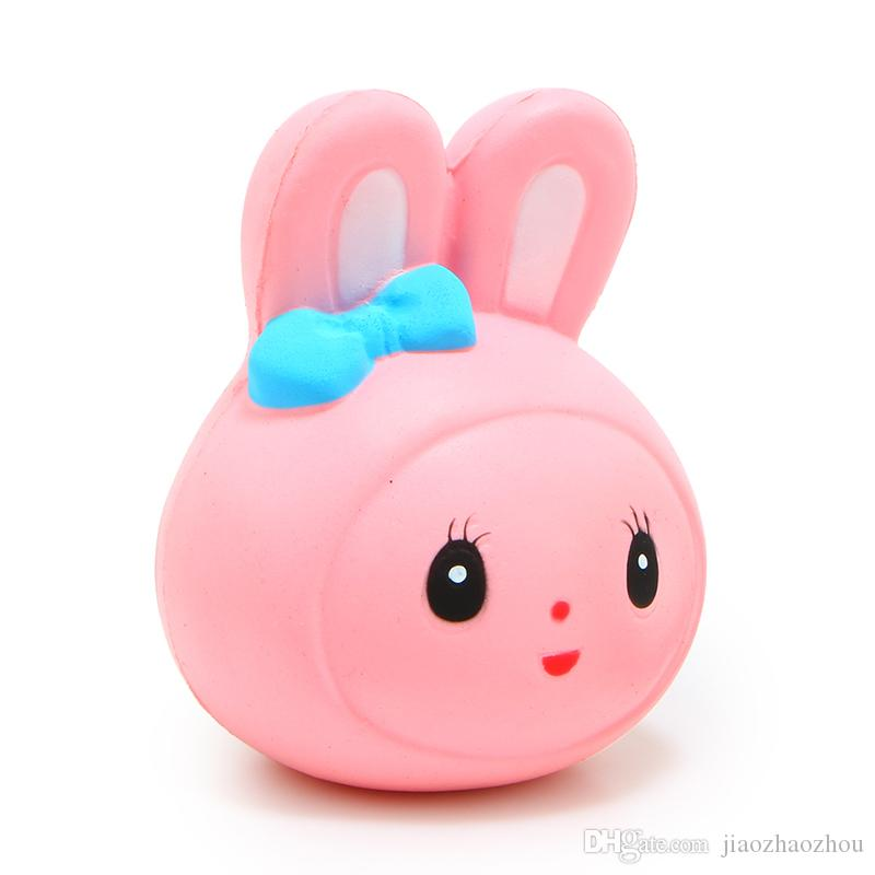 2017 NEW! 12cm Hot Kawaii Jumbo White Pink Rabbit Squishy Soft Doll Collectibles Cartoon Sweet Scented Slow Rising