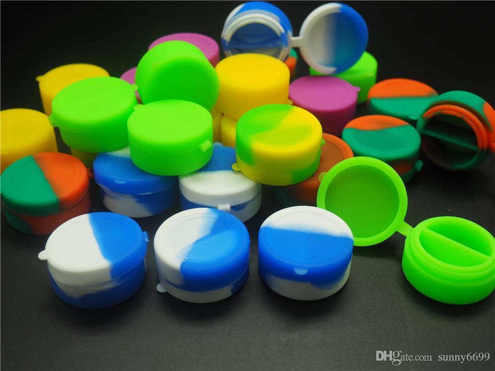 Le moins cher jamais! Couleur riche 7mL rond antiadhésif Silicone Jar Dab Wax Conteneurs Pour Wax Silicone Bocaux Dab Silicone Container
