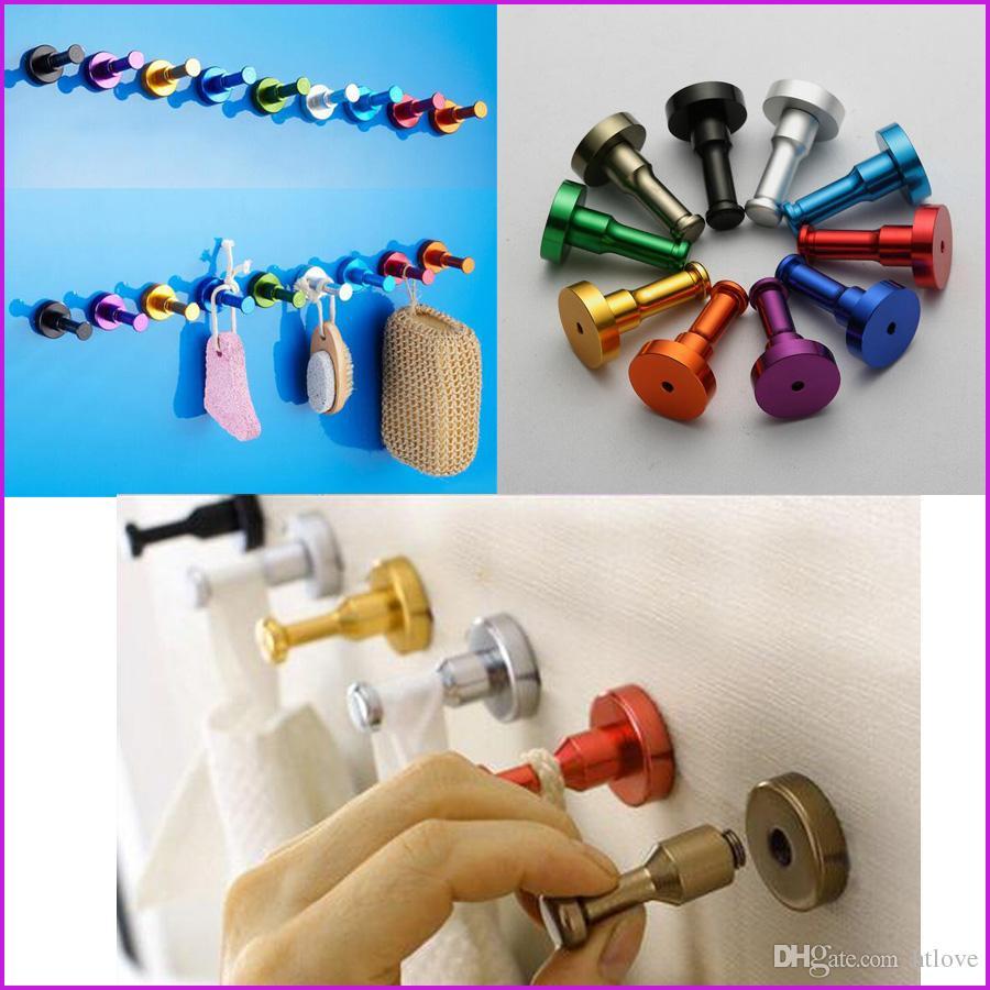 Großhandel 10 Farben DIY Handtuch Wandhaken Badezimmer Küche Tür ...