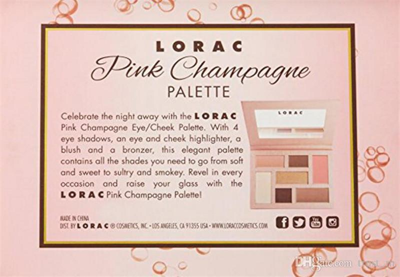 limited edition LORAC pink chapagne Eyeshadow highlighter blush bronzer Palette Make up