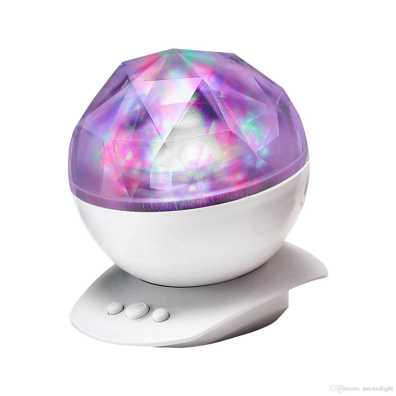 Diamond Aurora Borealis LED Projector Lighting Lamp Color Changing 8 Moods USB Light Lamp With Speaker Novelty Light Gift