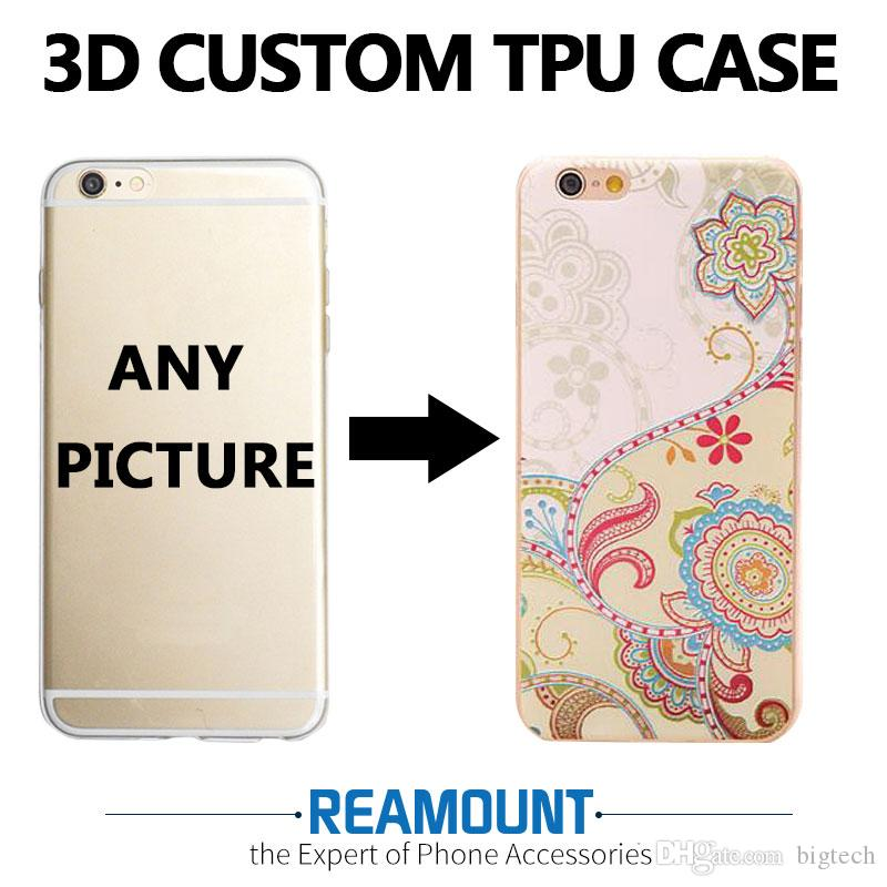 new concept 94ffd bb8fa 3D Relief Personalized Custom Cell Phone Slim Cover TPU Professional case  for Iphone 6 DIY Customize Photo Pictures