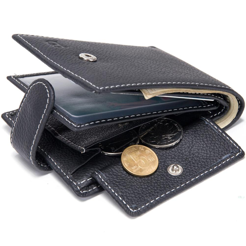 Baborry Dollar Price Men S Wallets Genuine Cow Leather With Coin Pocket  Black Thin Slim Hasp 3 Folds ID Card Holder Purse Wallet Wallet Brands  Girls Wallets ... 9b50d0a5e64cf