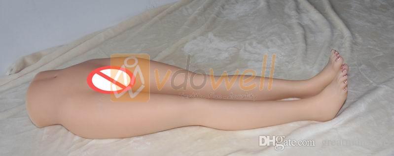 vdowell 3D 16kgs 88cm Sexy Jolies longues jambes silicone sexe poupée jambes modèle sexe torse modèle Réaliste Pussy Ass Mâle Masturbateur jouet adulte