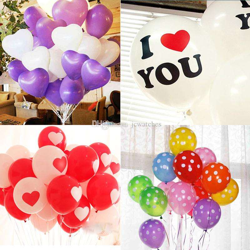 12inch Love Heart Latex Balloon Wedding Christmas Birthday Party Decoration  Wholesale DHL Free Shipping