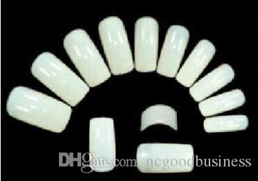 / set Natural False Gel UV acrilico Mezza francese Nail Art Tips Strumenti Ovale Unghie finte