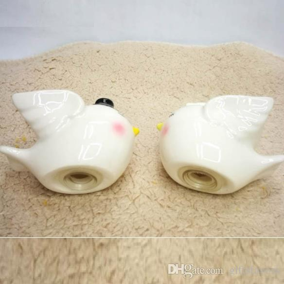 Love Birds Salt and Pepper Shaker set Wedding Favours Gifts and Cake Topper Happily Ever After Bride and Groom  wholesale