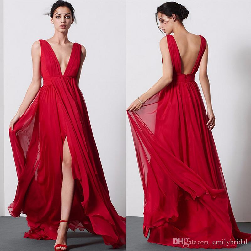 Vestidos boda noche rojo