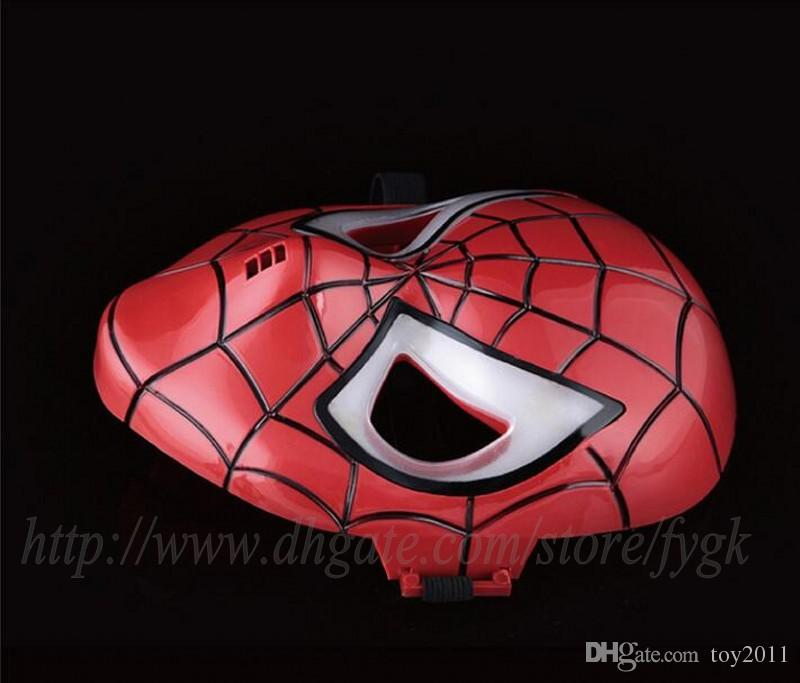 2017 promotion sale darth vader helmet halloween maskcosplay glowing spiderman spider man mask eyes make up toy for kids boys masquerade ball masks male - Halloween Darth Vader