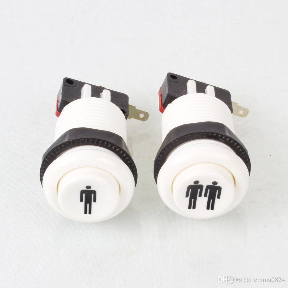 Happ estilo 1 jogador / 2 jogador início home botões de pressão com micro interruptor para jogos de máquina de arcade mame jamma peças