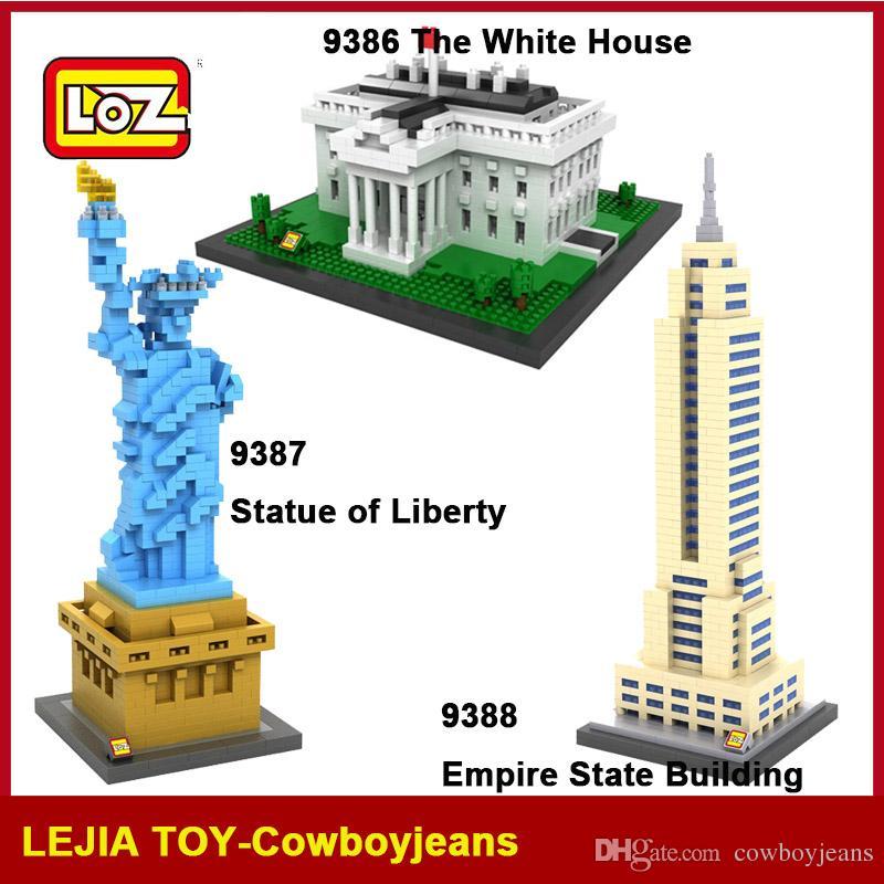 2018 Loz Diamond Blocks World Famous Architecture White House Statue