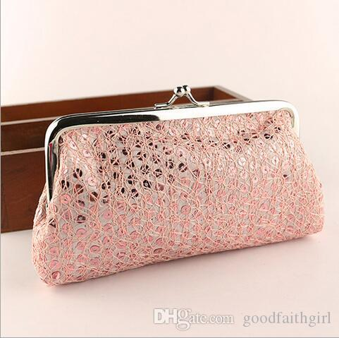 Vintage mini women girl paillette sequin coin purse key holder wallet hasp small gifts bag clutch handbag phone case Xmas gift