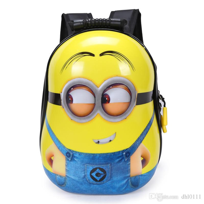 85e93c8218 Fashion Design Children 3D Backpack Cartoon Bags Kids Baby School Bags Cute  Yellow People Schoolbag For Kindergarten Boy And Girls Gift Backpacks For  Boys ...