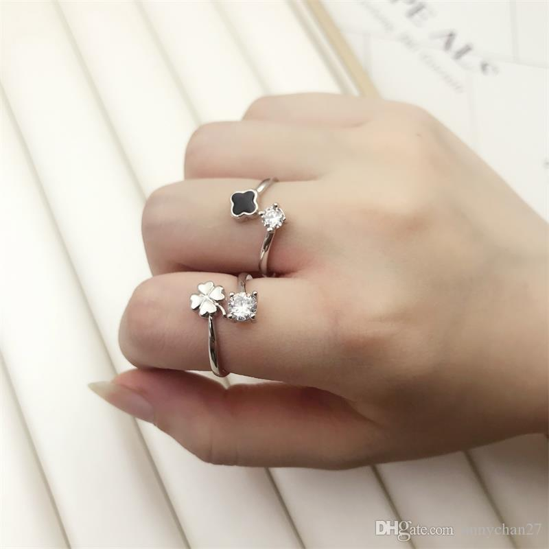 New Silver Opening Ring Crystal Rhinestone Simple Popular Fashion Design Hot Sales Color Keeping Quality Band Rings Nice Wedding Jewellery